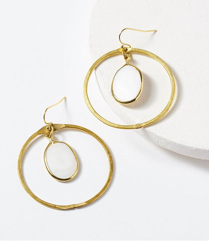 Kaia Earrings - Gold Hoop