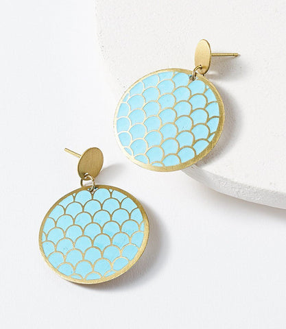 Vitana Earrings - Teal Glow
