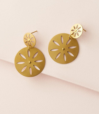 Vitana Earrings - Deco Disc