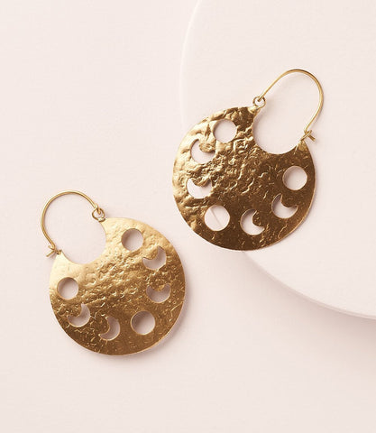 Rajani Earrings - Pearl Crescent