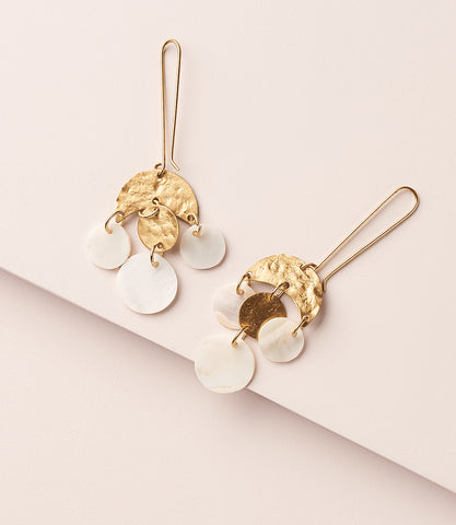 Danu Earrings - Lush Pearl