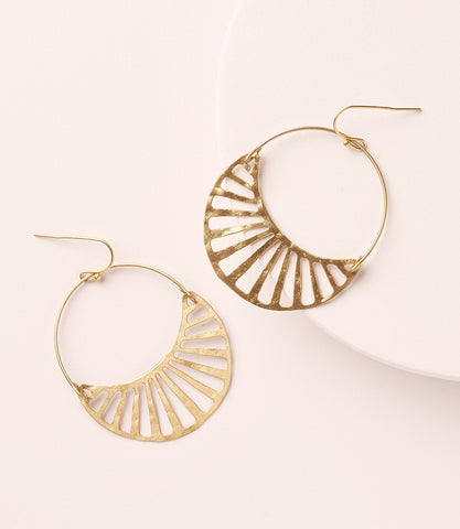 Kaia Earrings - Teal Hoops