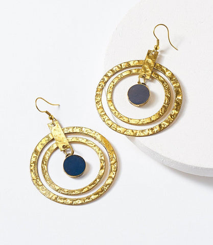 Chameli Earrings - Petal Coin