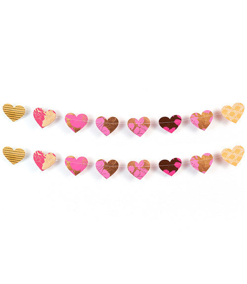 Metallic Cotton Heart Garland
