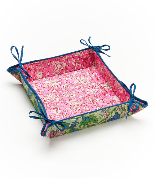 Reversible Cotton Travel Tray - Square
