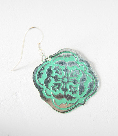 Arabesque Earrings - Teal