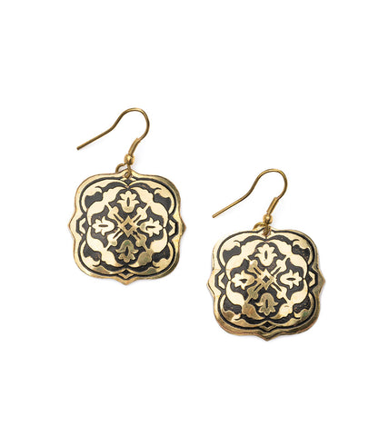 Ashram Window Earrings - Silver