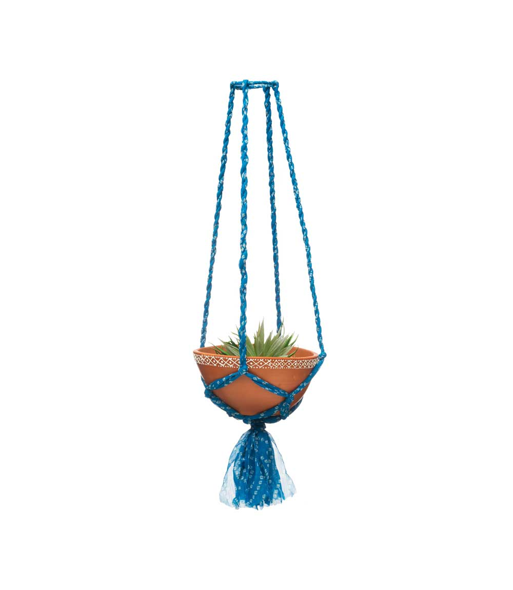 Sari Macrame Hanging Bowl - Assorted