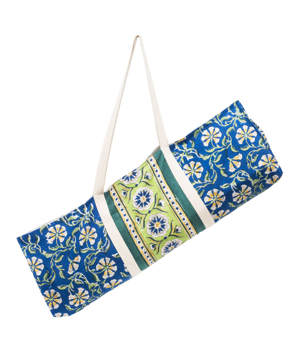 Kalini Yoga Bag - Indigo & Lime