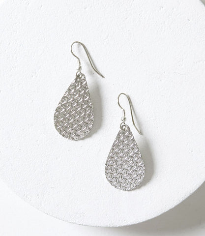 Ria Earrings - White Slice