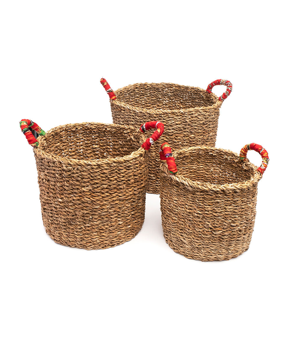 Sari Handle Nesting Baskets (Set of 3)