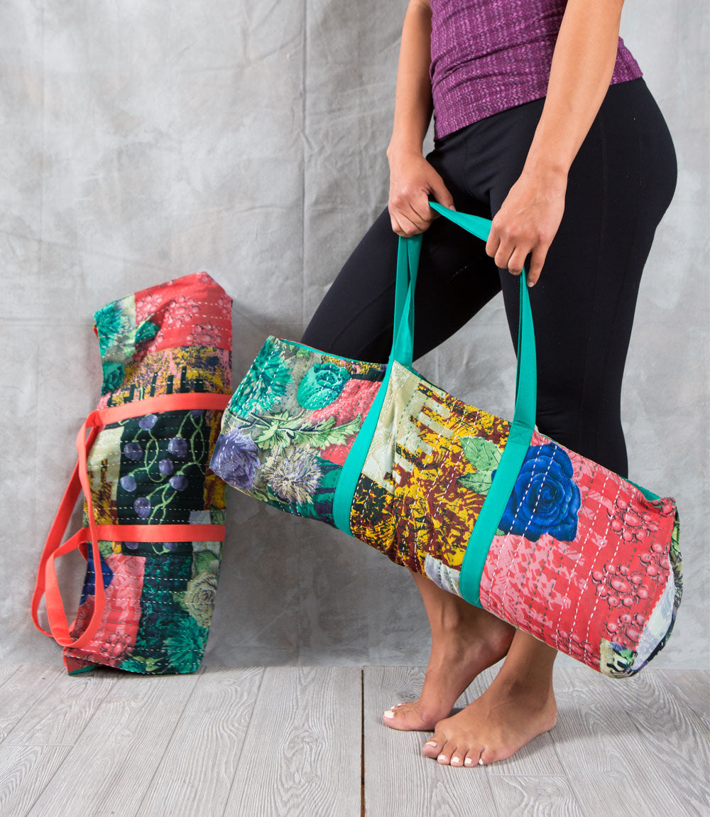 Kantha Sari Yoga Bag - Assorted