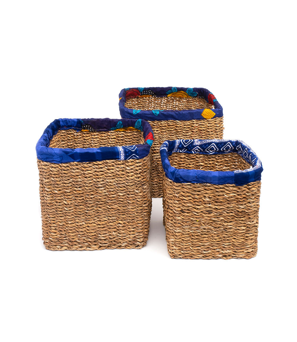 Sari Wrap Nesting Baskets