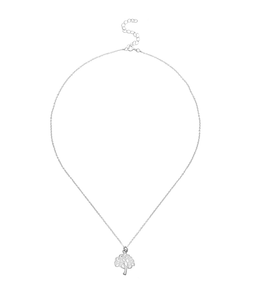 Shanasa Sterling Silver Charm Necklace - Abundance