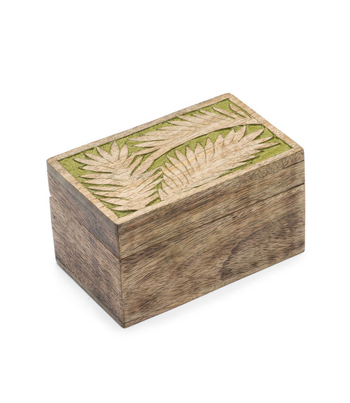 Holi Color Rub Keepsake Box - Palm Leaf
