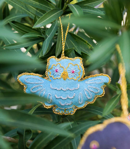 Larissa Plush Ornament - Owl
