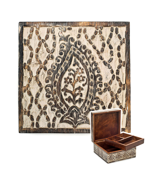 Antique Finish Jewelry Box - Paisley
