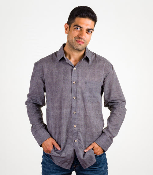 Avani Pocket Button Down - Gray XL