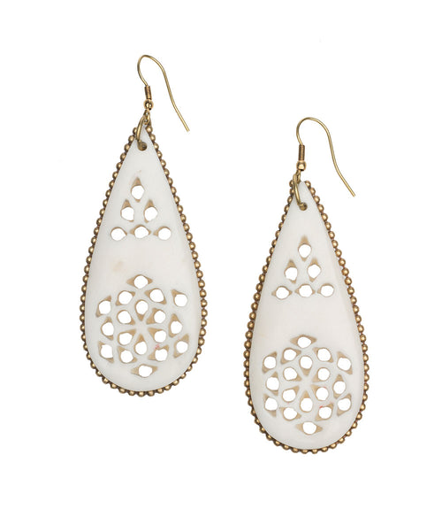 Anika Earrings - Filigree Teardrop