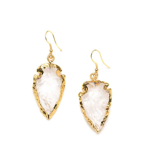 Abbakka Arrowhead Earrings - Crystal
