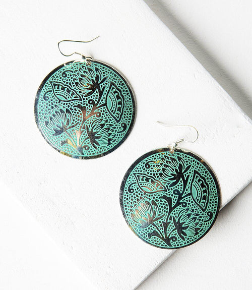 Padma Earrings - Teal
