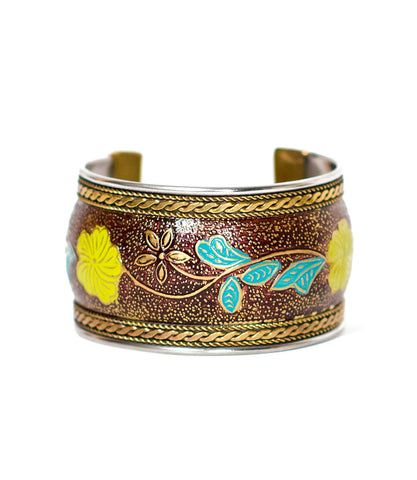Thin Bollywood Cuff - Poppy