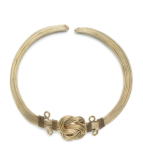 Buddha Knot Necklace - Gold