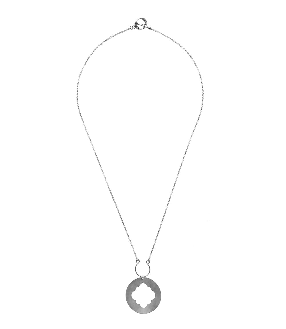 Ashram Window Necklace - Silver