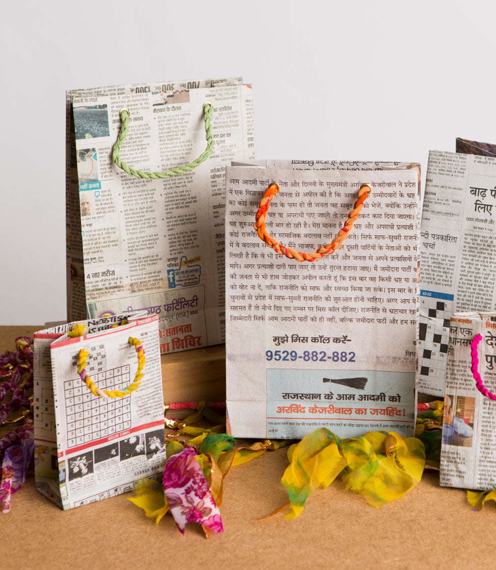 Eco News Gift Bags - Medium