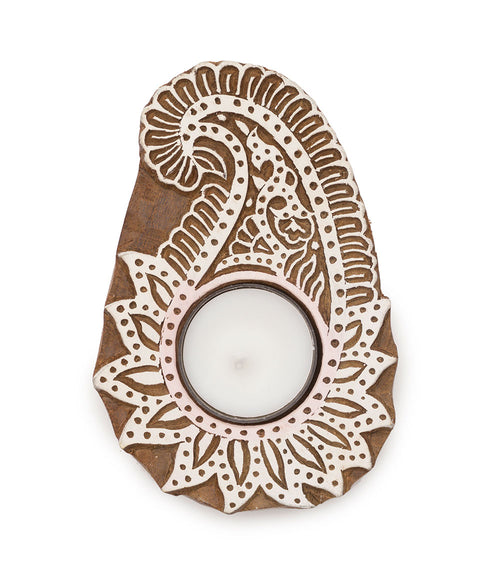 Aashiyana Tea Light Holder - Paisley