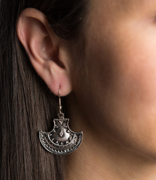 Maratha Queen Earrings - Silver