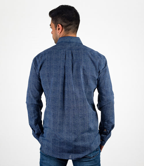 Avani Pocket Button Down - Blue XL