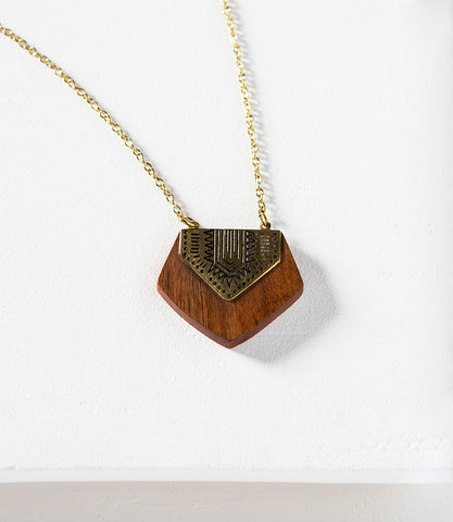 Earth and Fire Chevron Necklace