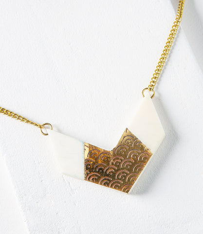 Ashram Window Necklace - Gold