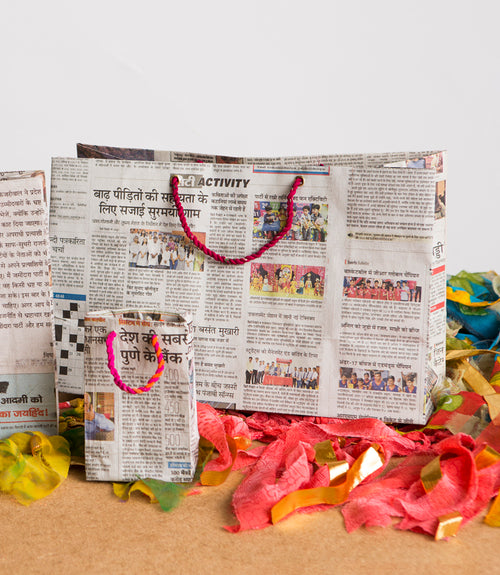 Eco News Gift Bags - Wide