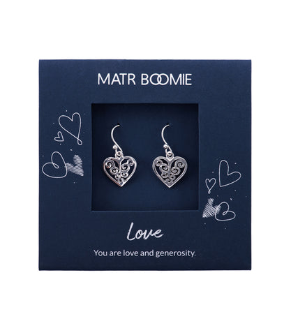 Shanasa Sterling Silver Charm Earrings - Wisdom