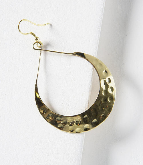 Lunar Crescent Earrings - Gold