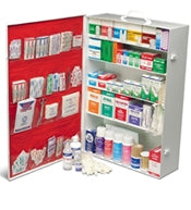 5 Shelf XLarge Industrial First Aid Cabinet w/Liner