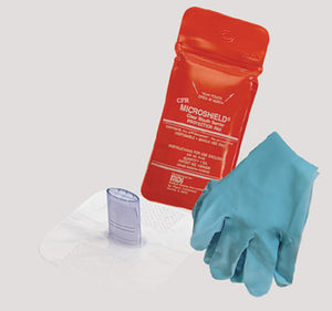 MDI CPR Microshield Disposable Rescue Breather With Gloves In Pouch