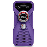 Eton - Hand turbine weather radio with LED flashlight - Purple