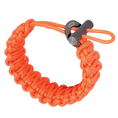 Smokey Fire Starter Paracord Bracelet - Orange