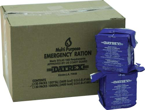 Datrex 3600 Emergency Food Bar - Case of 20 Emergency Rations