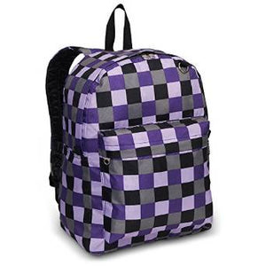 Everest Luggage Classic Backpack - Purple Bold Plaid