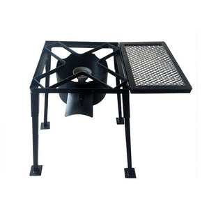 Outdoor Stove With Mesh Shelf