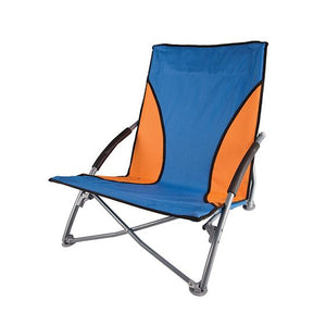 Low-Profile Fold-Up Chair - Blue / Orange
