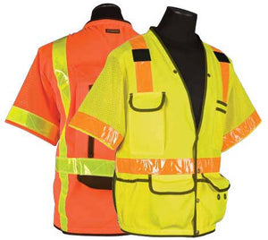 Surveyors Series Polyester / Ultra-Cool Mesh Safety Vest - Class 3