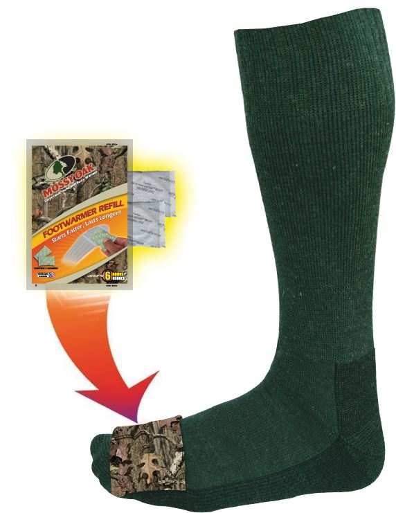 M206- Mossy Oak Heated Midcalf Socks - Pair