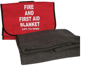 Fire and First Aid Blanket with Case