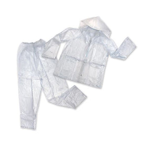 Mens Vinyl Rainsuit - Clear - XL