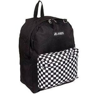 Everest Luggage Classic Backpack - Black Pocket Squares